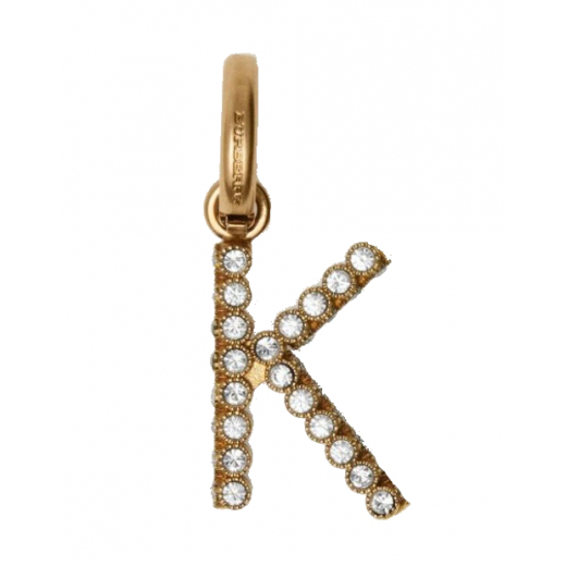 "Crystal ""K"" Alphabet Charm"