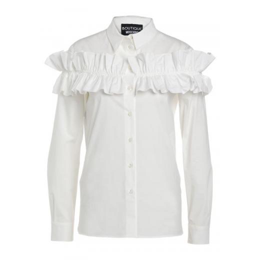 Boutique Moschino biała bluzka bawełna, nowa