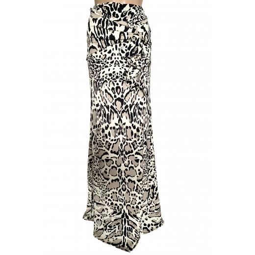 Długa spódnica - wzór skóra rysia